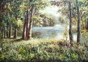 Spring,Original Oil Painting by R. Cook, 61 X 91 cm