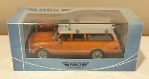 NEO 1970 Chevrolet Suburban Ambulance Orange White 1/43