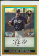 Sawyer Carroll 2009 Bowman Chrome Prospect Gold Refractor #BCP27  #49/50