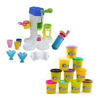Große Eismaschine und super Set Kinder Soft Knete in 10 tollen Farben à je 140g