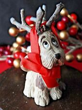 Hallmark Ornament 1987 Reindoggy Dog With Antlers puppy No Box