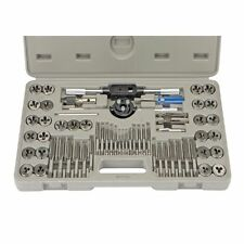 NEW 60 PIECE SAE & METRIC TAP AND DIE SET CASE THREADING TAPPING DRIVE TOOL