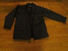 Men's Coat OPTI Dark Blue Zip Lining Size XL Short Foul Weather Anorak  Pockets