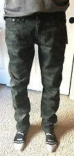 NWT True Religion Jeans Men's Geno Slim Tiger Camo Black SIZE 32 $228 MECJ19NJW7