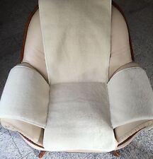 Housse de Fauteuil en blanc naturel BOUCLÉ, Coussin de chaise, jeté ,100% laine