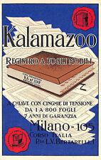 C1014) MILANO, KALAMAZOO, REGISTRO A FOGLI MOBILI.