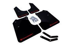Rally Armor Mud Flaps Guards for 08-10 Impreza & WRX (Black w/Red Logo)