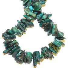 "GC110 Dark Blue Turquoise Large 10mm - 15mm Chip Turquoise Gemstone Beads 15"""