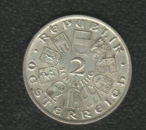 AUSTRIA 2 SHILLING 1928 SILVER