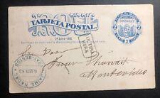 1883 Montevideo Uruguay Postal Stationery Postcard cover