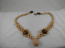"Vintage Acai Seed necklace 18"" Ethnic Tribal Gorgeous"