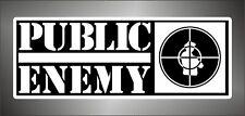 Aufkleber - Sticker - Decal  PUBLIC ENEMY    hip hop rap hard rock