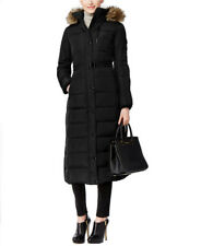 Michael Michael Kors Faux-Fur Hooded Down Belted Puffer Coat M821599T74 Black XS