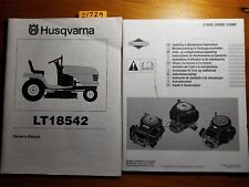 Husqvarna LT18542 Ride-On Mower Tractor Owner's Operator's Manual 2/04 + B&S