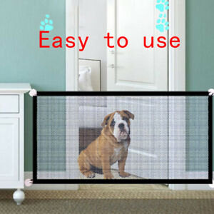 Safety Gate Pet Dog Baby Mesh Fencing Portable Guards Indoor Kitchen Home NS.DD