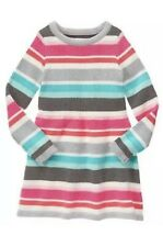 GYMBOREE ENCHANTED WINTER PINK CORAL /& GRAY STRIPED SWEATER SCARF 1-SIZE NWT