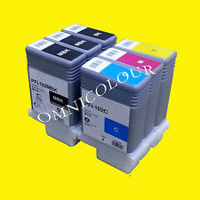 6 compatible ink cartridge for Canon PFI-102,  500 510 600 605 610 700 710