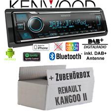 Kenwood Radio fürRenault Kangoo 2 DAB Bluetooth iPhone/Android Spotify Einbauset
