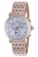 GV2 by Gevril Women's 9800 Marsala Chronograph Diamond Rose-Gold IP Steel Watch
