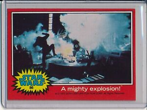 1977 Topps Star Wars Cards Series 2 # 86 - A MIGHTY EXPLOSION!