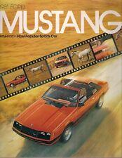 Ford Mustang 1981 USA Market Sales Brochure 2-dr 3-dr Ghia Cobra