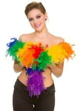 60g Rainbow Multicolour Feather Boa Fancy Dress Accessory Gay Pride Burlesque
