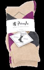 Mens Pringle 3 Pack Socks Waverley L4100 Beige
