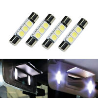 4x New Car Auto Parts Lighting Lamps Light Bulbs LED Lights HID White 3-SMD 31mm