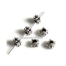 50 Intercalaires spacer Carré arg 4x4x3.5mm Perles apprêts création bijoux _A322
