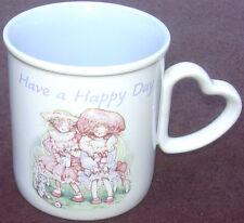 Holly Hobbie Have A Happy Day Ceramic Stoneware Coffee Cup Mug Holly Hobby 1990