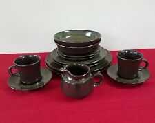12 PIECE +CREAMER FRANCISCAN MADEIRA DINNER PLATE CEREAL SOUP BOWL CUP PLACE SET
