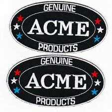 ACME SEW/IRON PATCH EMBROIDERED LOONEY TUNES ROAD RUNNER COYOTE WARNER BROTHERS