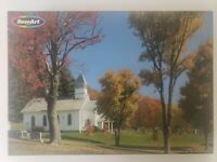 """RoseArt """"Church in Otsego, Ohio"""" 1000 Piece Jigsaw Puzzle NEW Free Shipping VTG"""