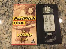 FASTPITCH USA THE VIDEO MAGAZINE VOL 1 RARE VHS COLLEGE SOFTBALL TIPS COACHING!