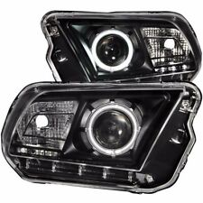 Aftermarket Headlight Pair L+R (Black Housing) For 2010-2013 Ford Mustang