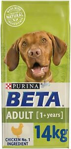 BETA Adult Dry Dog Food for Large Breed Dogs Chicken Natural Pre-Biotic 14kg