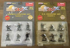 Ultimate Soldier Series 1 Lot x 2 U.S. Infantry 20010 German Infantry 20020 1/32