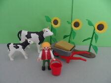 PLAYMOBIL – Enfant avec vache de la ferme / Chidren with cow / 4490