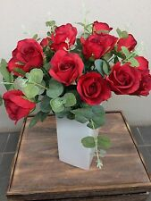 Valentines Flowers Roses Red Artificial Flowers Sydney Roses Red
