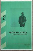 DURAND JONES & THE INDICATIONS 2018 POSTER Gig Portland Oregon Concert