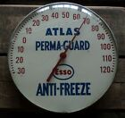 Vintage Esso Atlas Perma Guard Anti Freeze Round Glass Thermometer