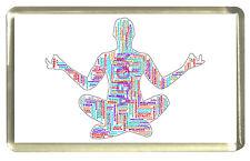 Yoga Word Cloud Fridge Magnet- Zen, Meditation