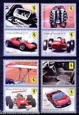 Antigua 2010 MNH 8v, Ferrari Automobile Sportwagen Cars, Engine, Sports