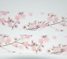 Japanese WASHI Tape ~ 7m x 15mm ~ Pink Cherry Blossom Branches ~ embellishment