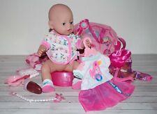 Baby Born Mädchen - Soft Touch v. Zapf, mit schöner Kleidung + Zubehör