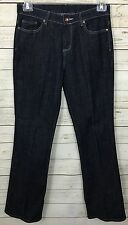 QVC Motto Your Style Manta Stretch Denim Boot Cut Dark Wash Jeans Size 8