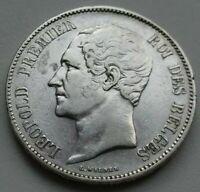 Belgique . 5 Francs 1850 Argent/silver