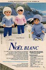 PAGE ET PATRONS ORIGINAUX poupées 12/83  Modes et Travaux
