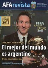 MESSI BALLON D'OR 2011 - FOOTBALL GUIDE 2012 - AFA Magazine # 12
