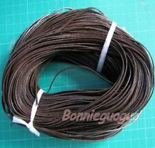 "Real Cow Leather Lace 3/25""(3mm) X 25 Yards Coffee ~ free shipping"